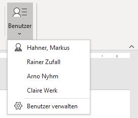 Team Hahner - Word Solutions - Benutzerverwaltung