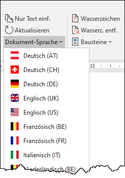 Team Hahner - Word Solutions - Sprachwechsel